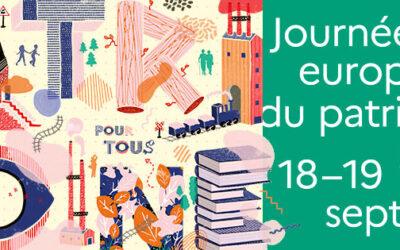 SAMEDI 18 ET DIMANCHE 19 SEPTEMBRE CE SONT LES JOURNÉES EUROPÉENNES DU PATRIMOINE